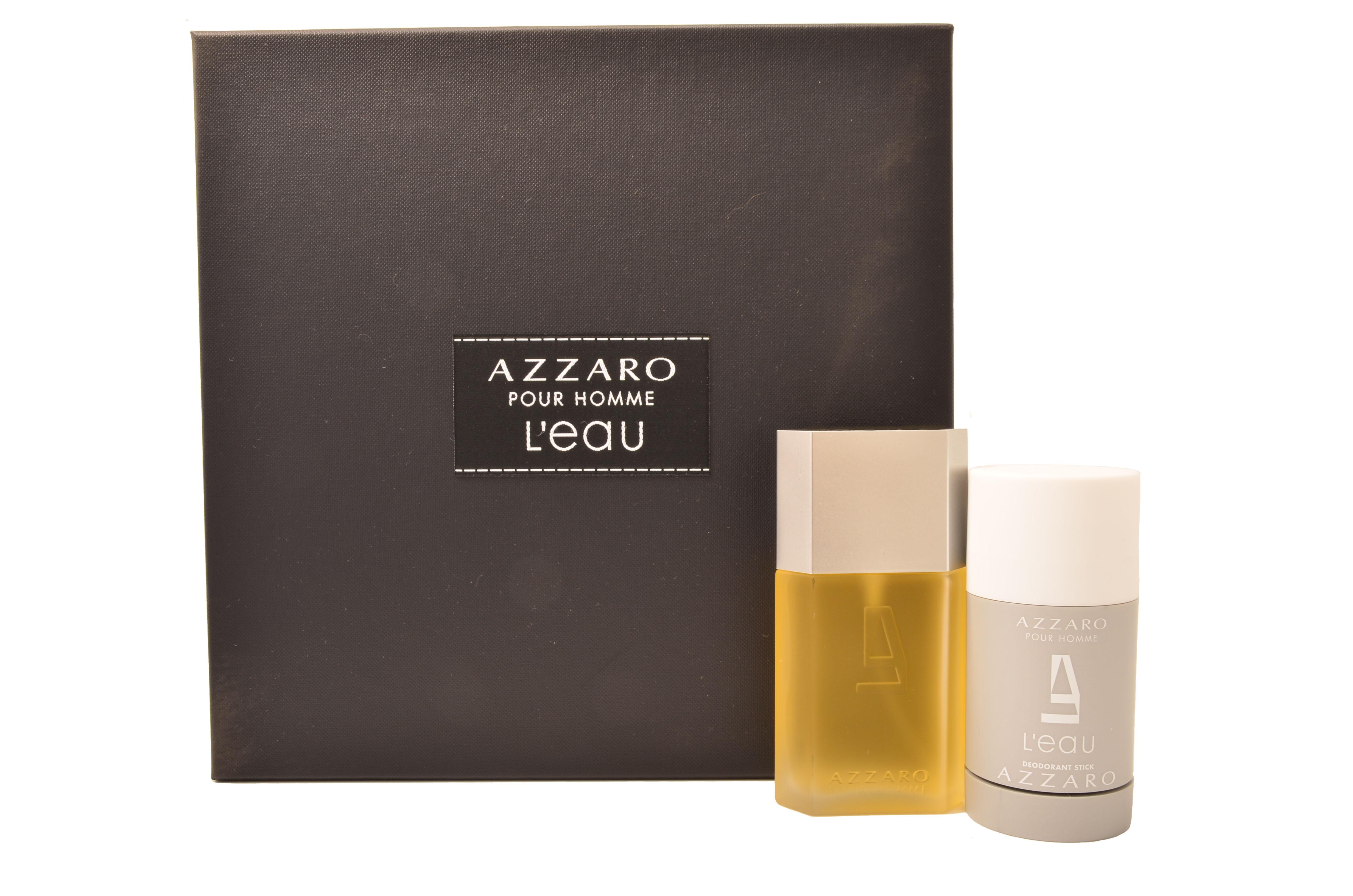 276fcd7982e AZZARO POUR HOMME LEAU EDT 50ML   DEO STICK 75ML - Perfume Hub