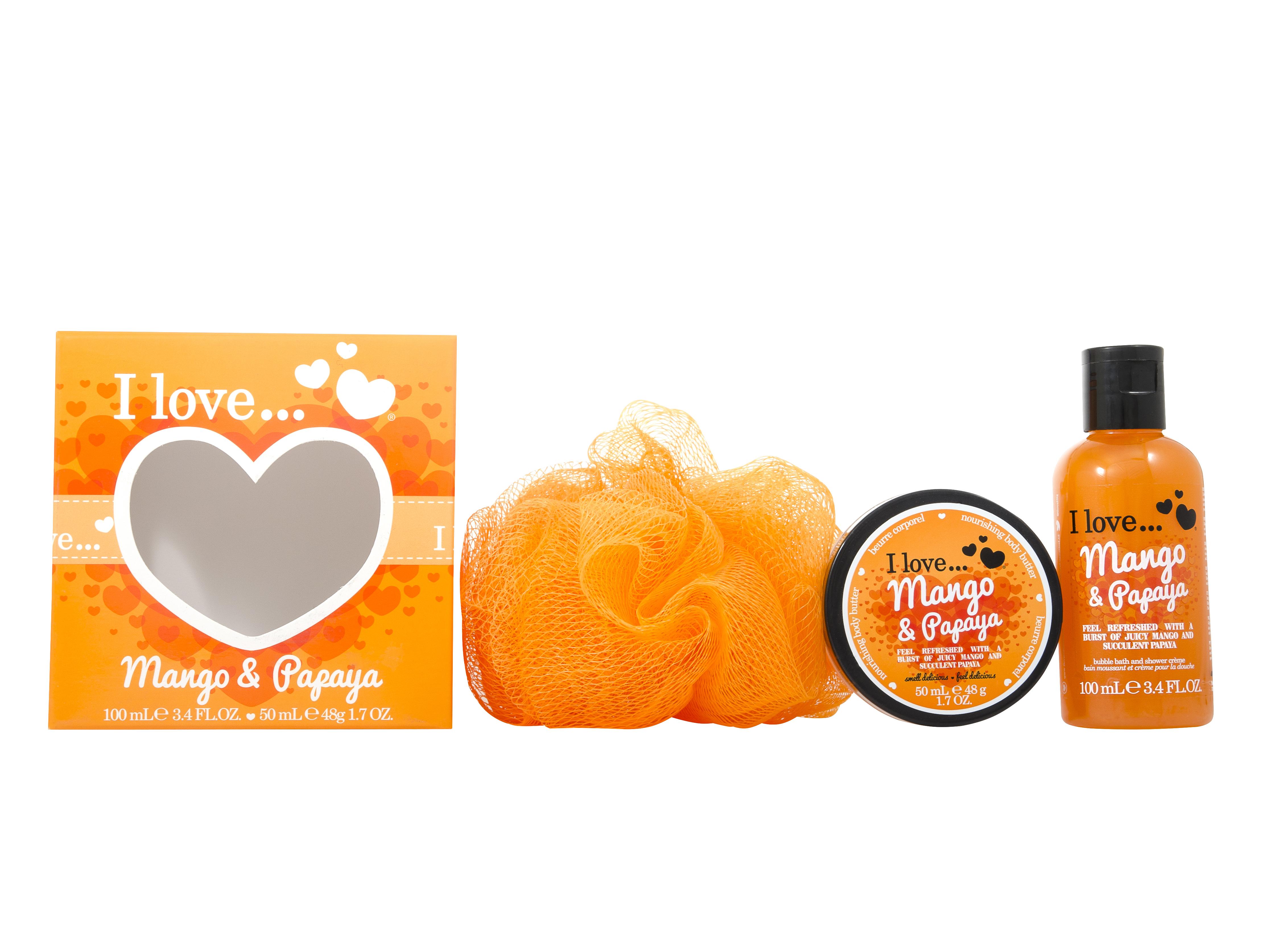 I Love Mango & Papaya Bath & Body 3 Pieces Gift Set