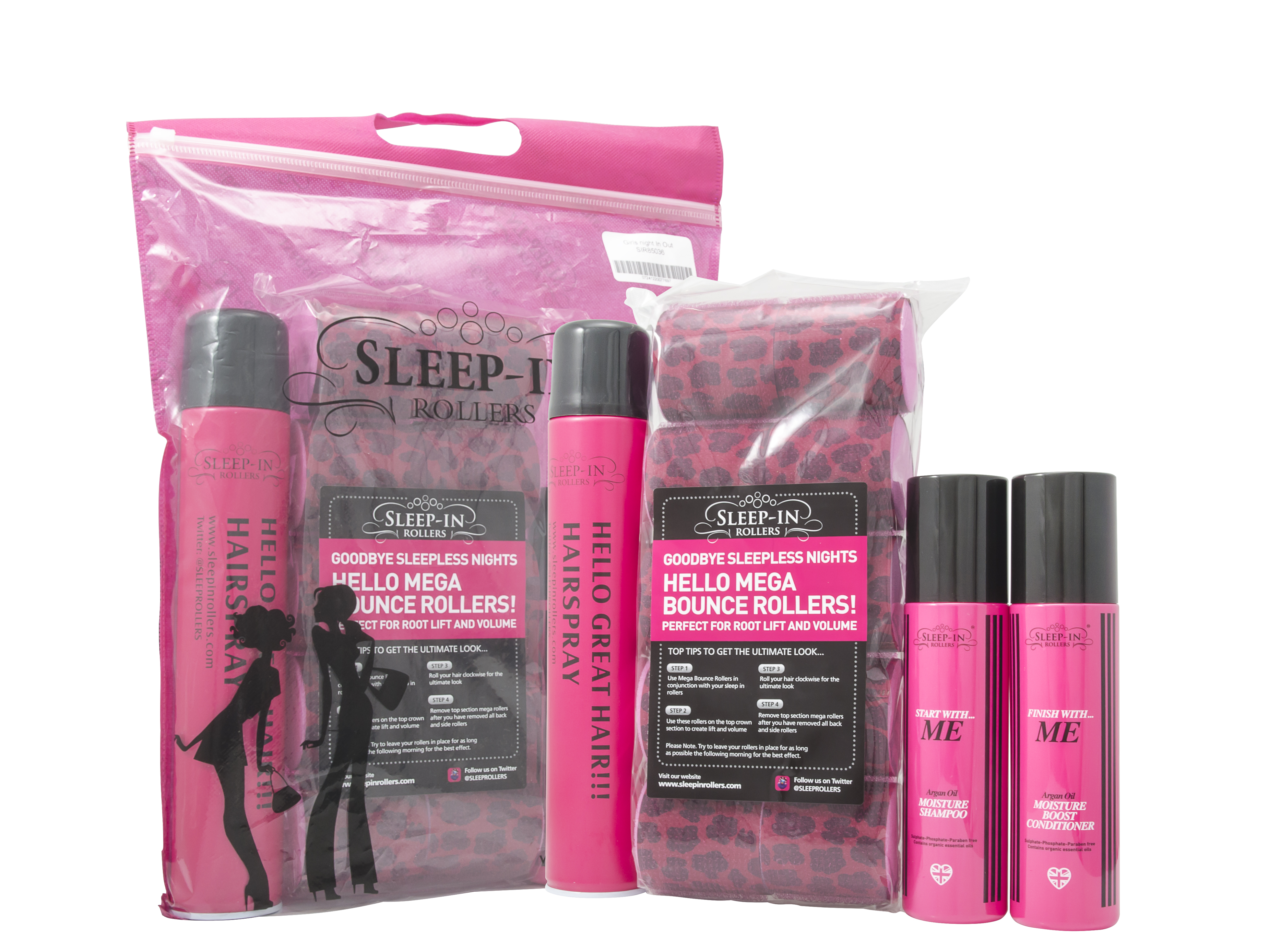 Sleep In Rollers Girls Night Out Haircare Set 4 Pieces Gift Set
