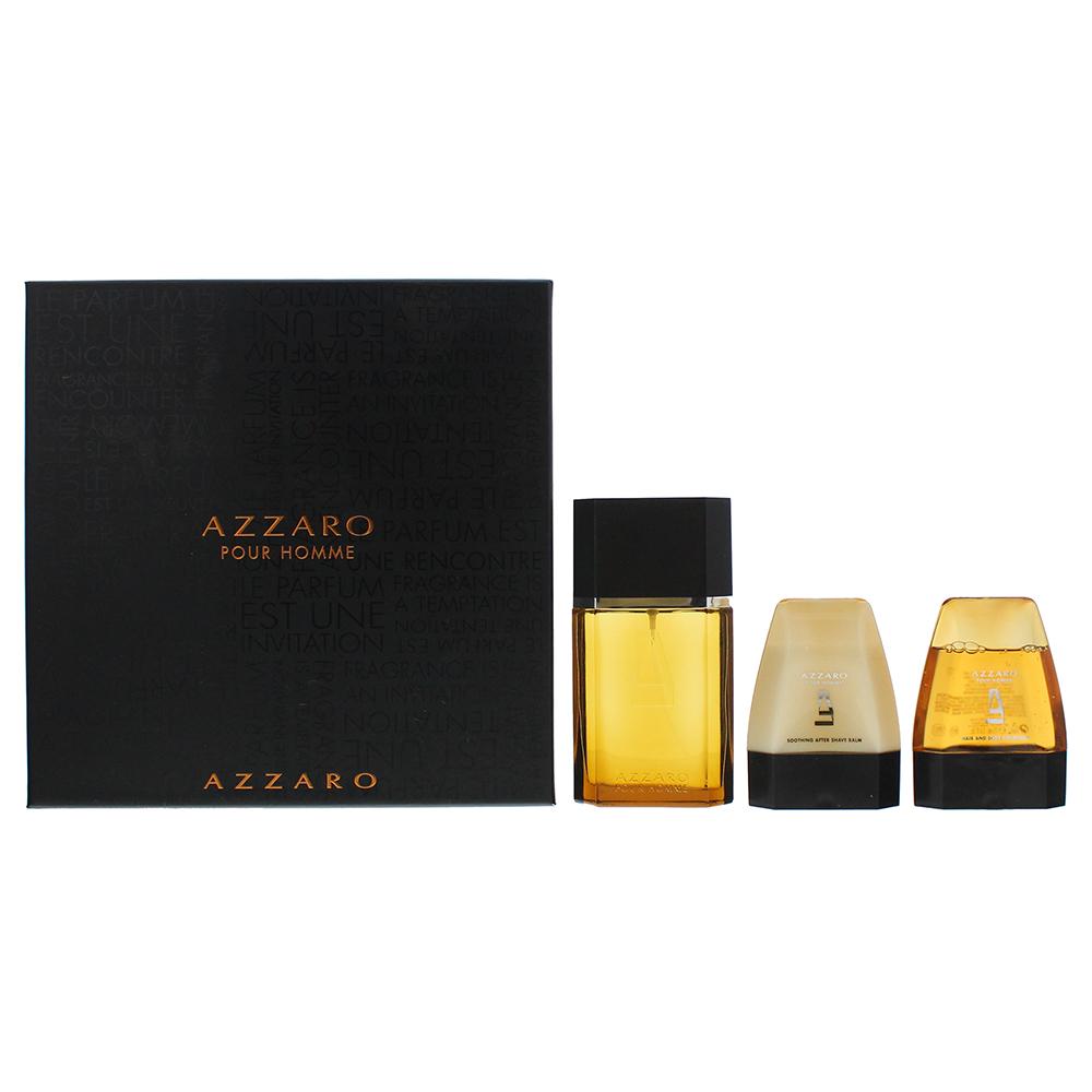 Azzaro Pour Homme Eau de Toilette 3 Pieces Gift Set