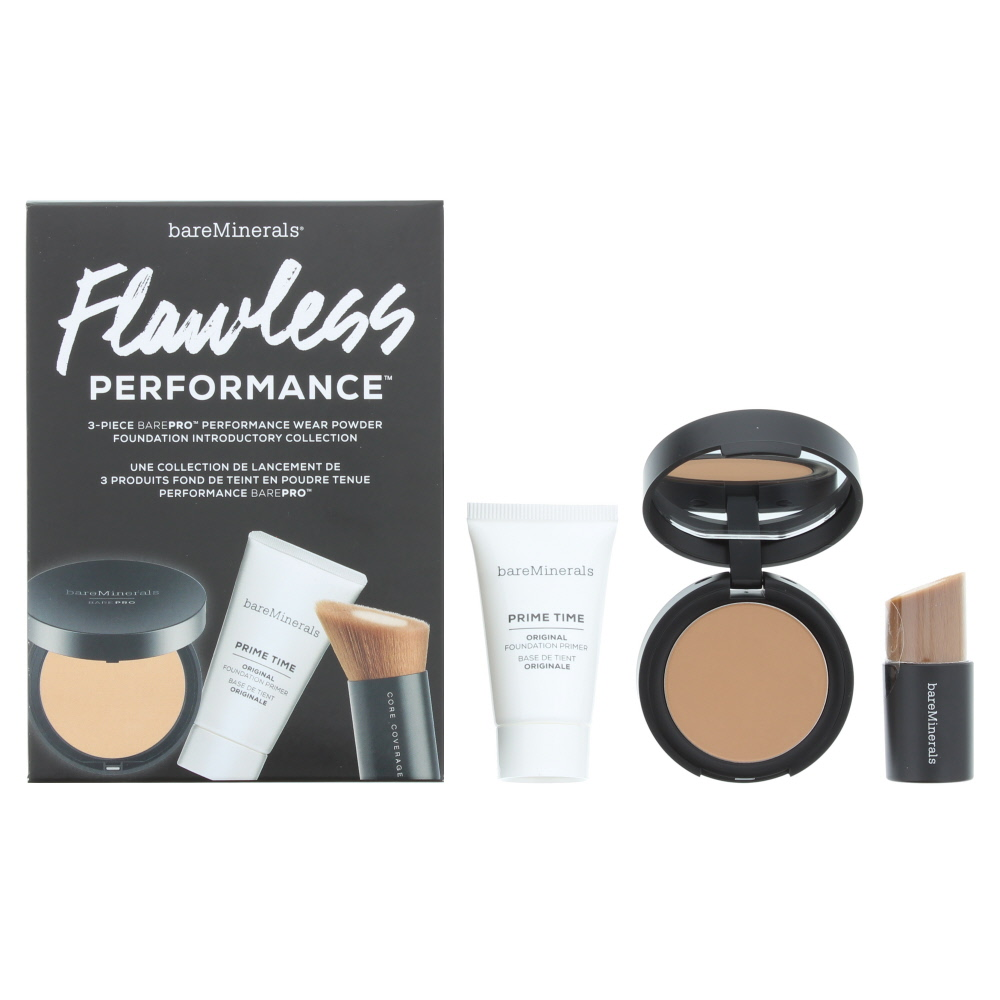 Bare Minerals Flawless Performance 18 Pecan Cosmetic Set 3 Pieces Gift Set