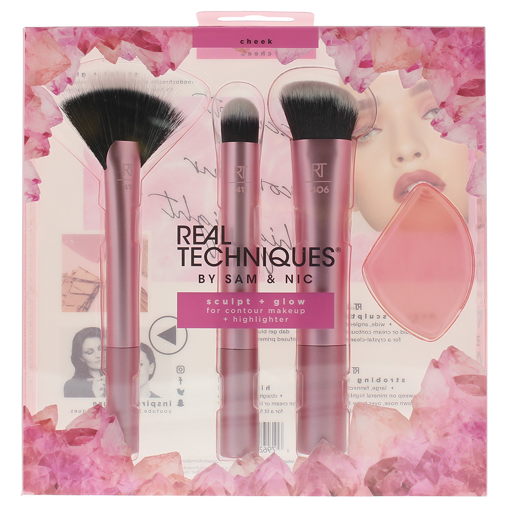 Real Techniques Sculpt And Glow Cheek 01869 Make-Up Brush Set
