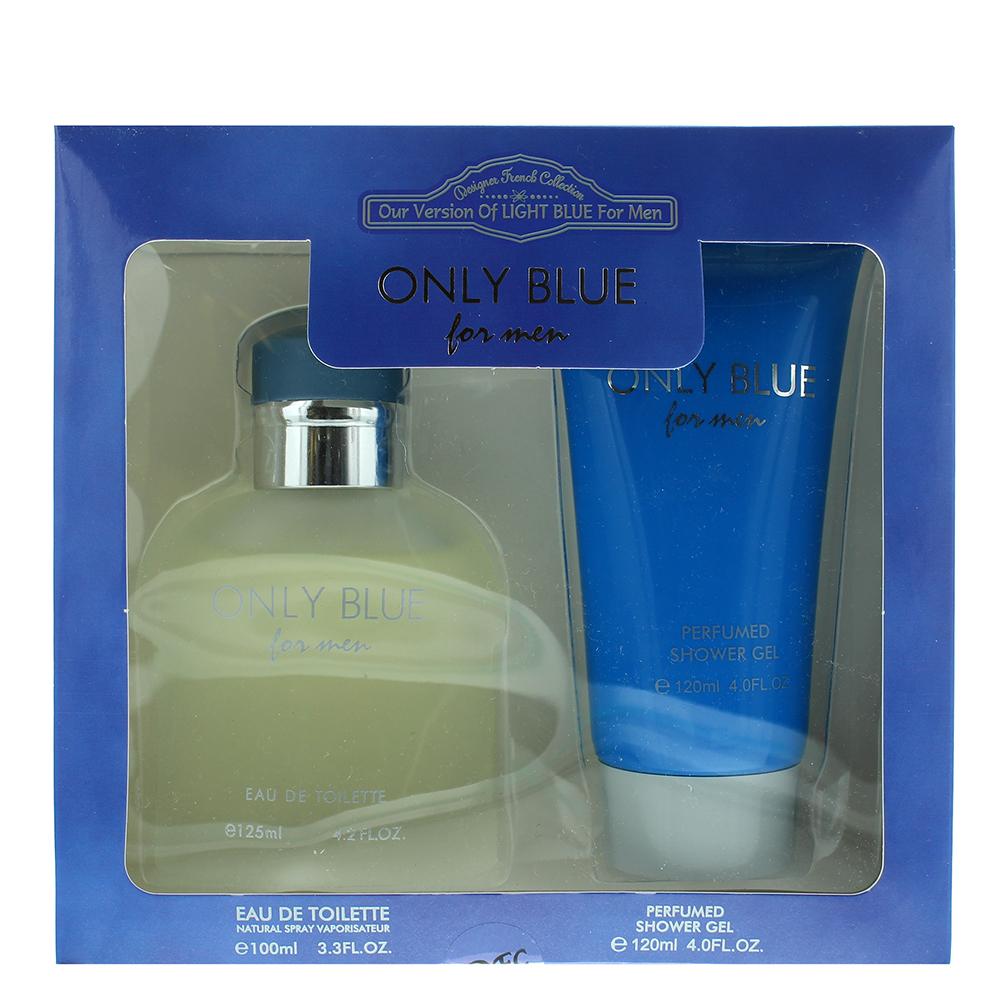 Designer French Collection Only Blue For Men Eau de Toilette 2 Pieces Gift Set