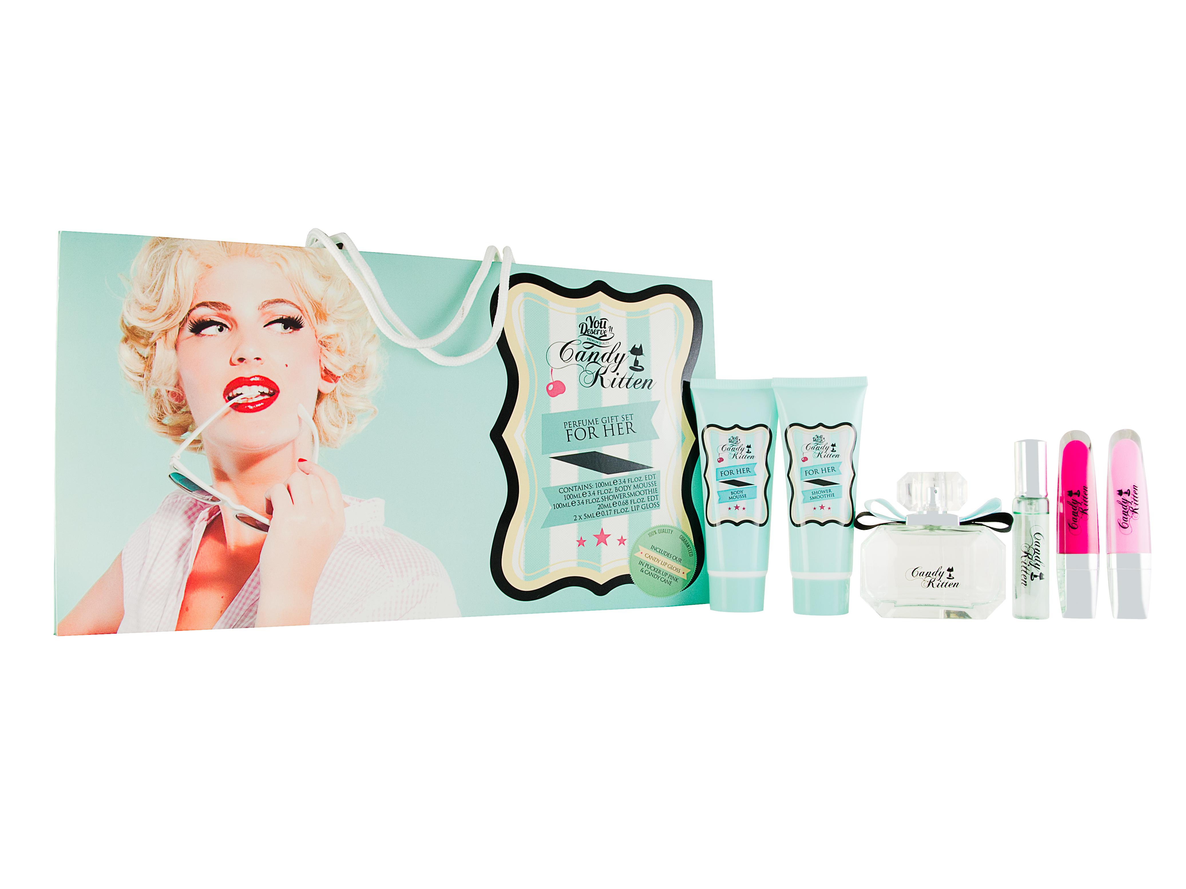 Candy Kitten Turquiose 6 Pieces Gift Set : Eau de Toilette 100ml - Body Mousse 1