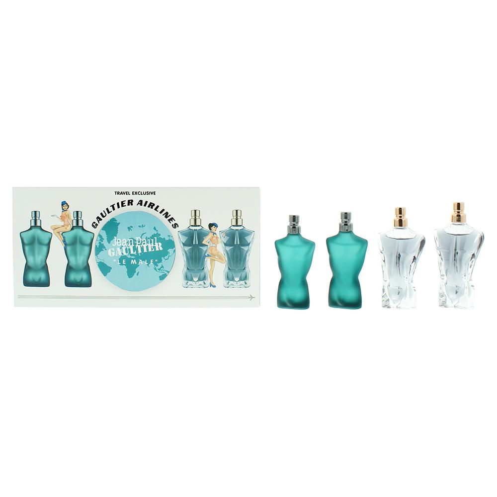 Jean Paul Gaultier Le Male Miniature Gift Set: Essence de Parfum 7ml - Essence de Parfume Intense Eau de Parfum 7ml - 2 x Le Male Eau de Toilette 7ml