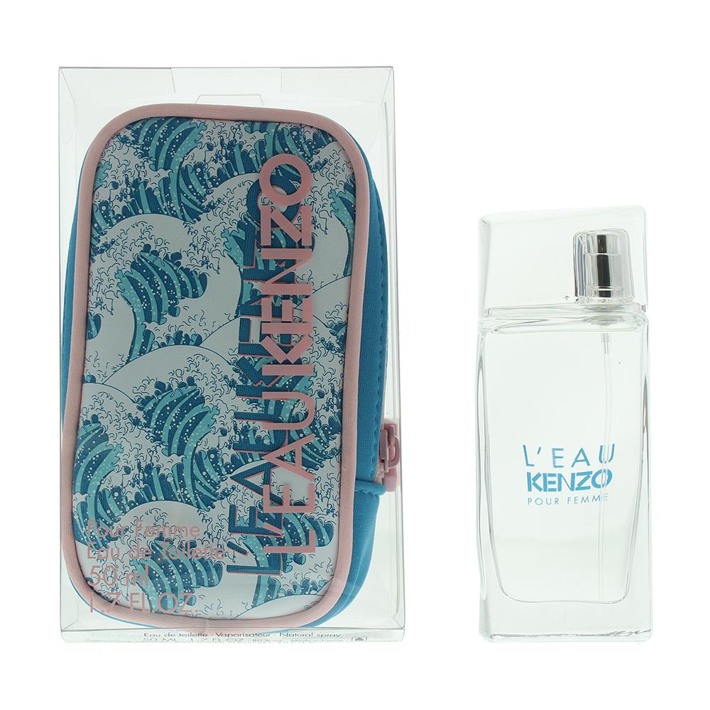 Kenzo L'eau Pour Femme Neo Edition Eau de Toilette Gift Set : Eau de Toilette 50ml -  Pouch