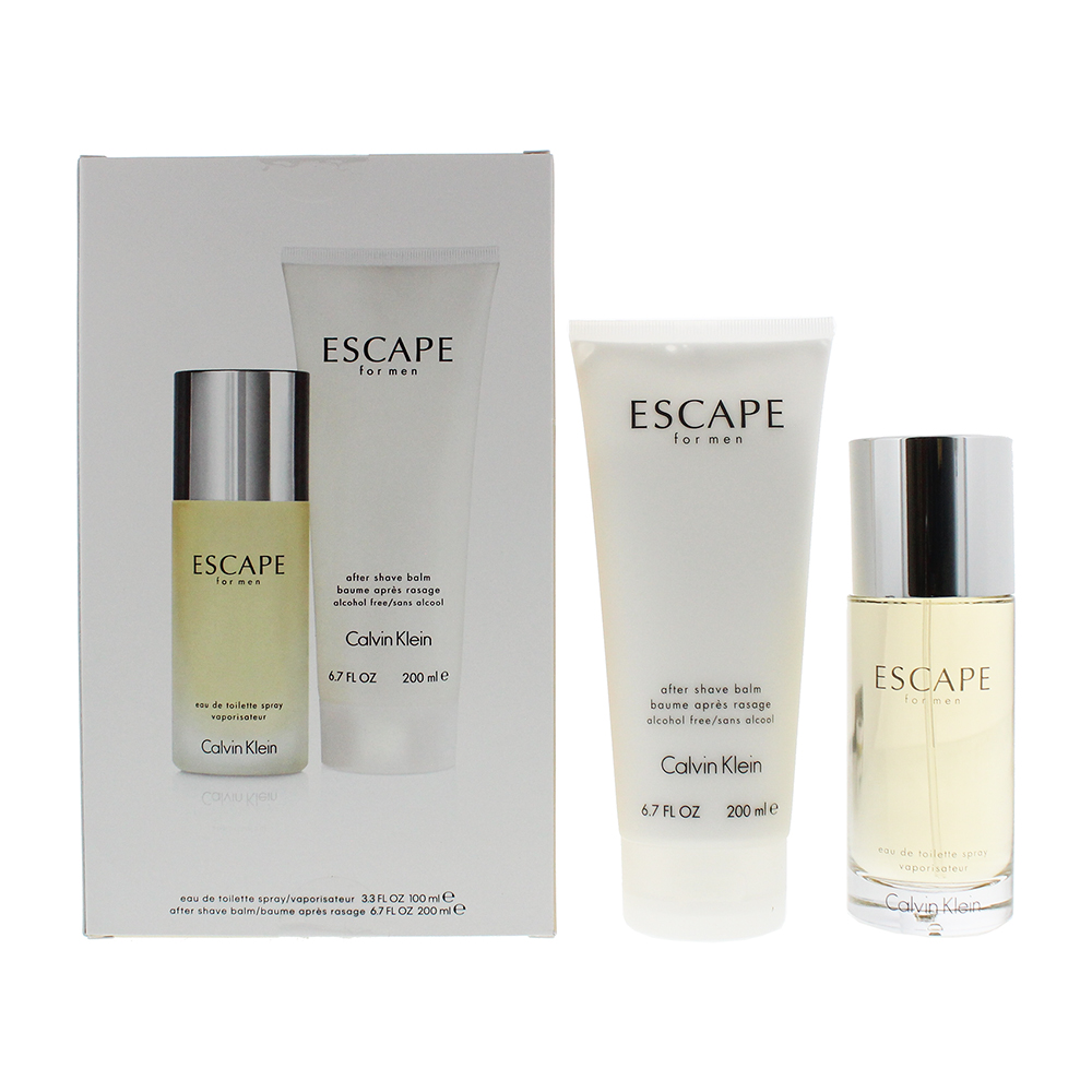 Calvin Klein Escape For Men 2 Piece Set - Eau De Toilette 100ml -  Aftershave Balm 200ml