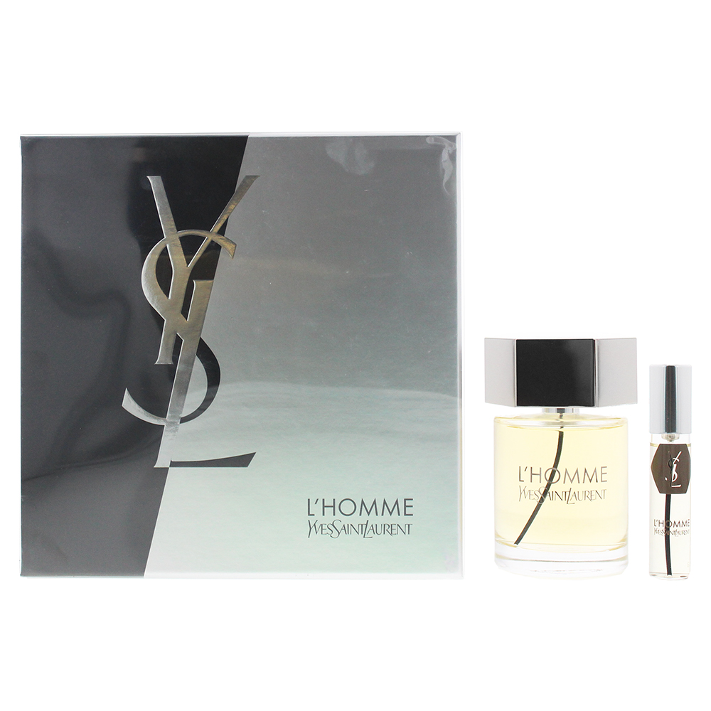 Yves Saint Laurent L'Homme 2 Piece Set - Eau De Toilette 100ml - Eau De Toilette 10ml