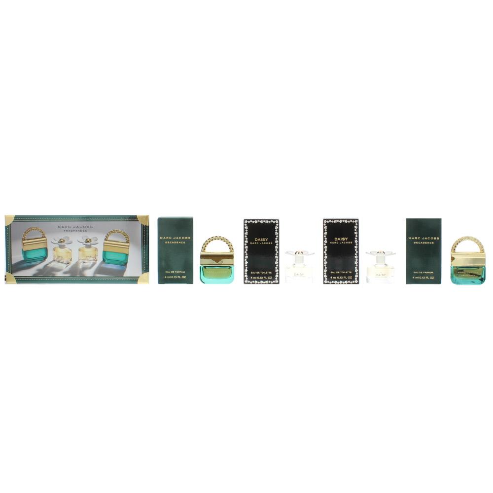 Marc Jacobs Daisy Miniatures Gift Set : Decadence Eau de Parfum X 2 4ml - Daisy Eau de Toilette X 2 4ml