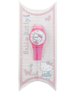 Hello Kitty White Spotted Strap Round Face Watch