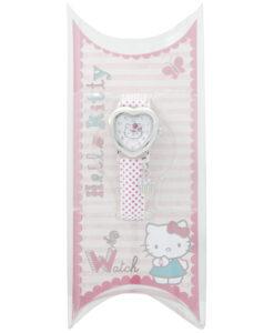 Hello Kitty Heart Shape Dial Pink Polka Dot Strap Watch