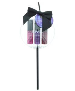 Nyx Nyx Professional Makeup Land Of Lollies  Lip Trio Metallic Cosmetic Set Gift Set : Lip Gloss 4.7ml - Lip Gloss 4.7ml - Lip Gloss 4.7ml