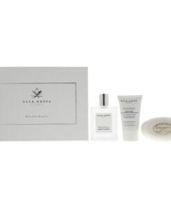 Acca Kappa Muschio Bianco White Moss Eau de Cologne 3 Pieces Gift Set : Eau de C